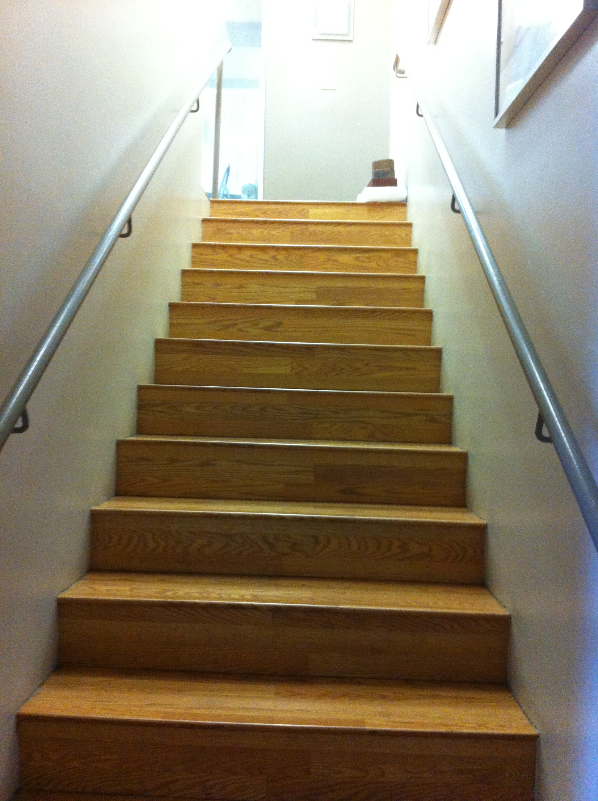 Stairs leading up to office - Private Entrance