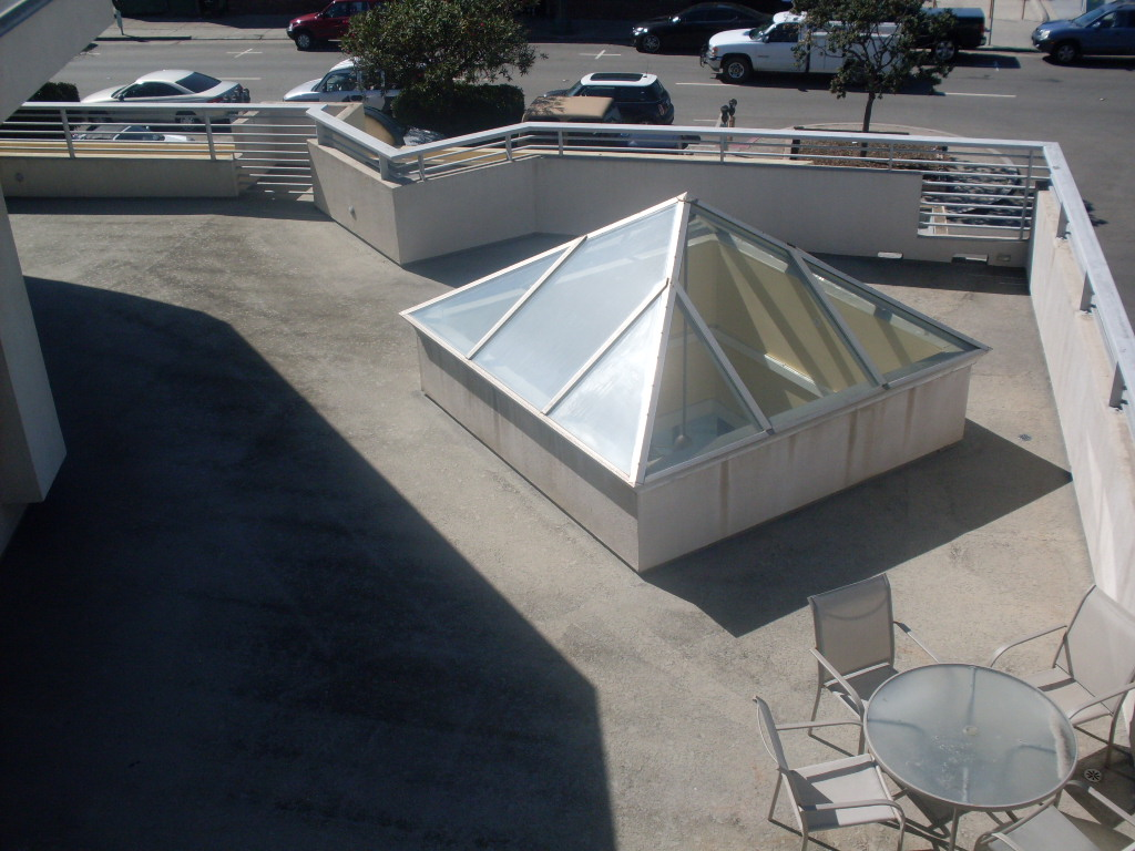 View of Patio from Roof